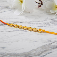 Golden Star Shaped Rakhi