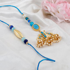 Peacock Lumba Rakhi Set