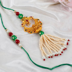 Traditional Lakshmi Lumba Rakhi Set