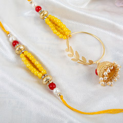 Beaded Lumba Rakhi Set