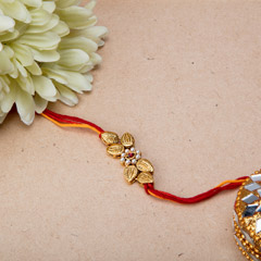 Antique Leaf Shaped Rakhi