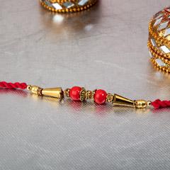 Red Beads Rakhi
