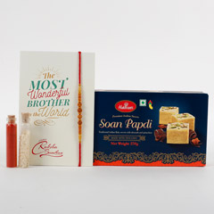 Beads Rakhi And Soan Papdi