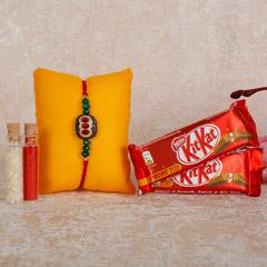 Designer Rakhi And KitKat Combo