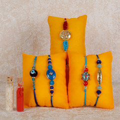Set Of 5 Beautiful Rakhis