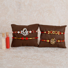 Set Of 4 Shining Rakhis