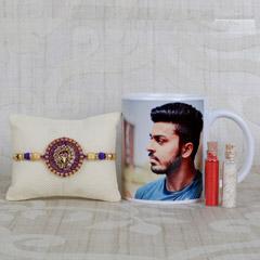 Gorgeous Rakhi With Personalized Mug