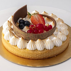 Tasty Lemon Pralinosa Cake (Half Kg)