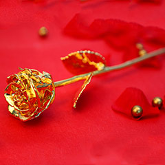 Engraved Golden Rose for Valentine