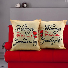 Always Kiss Me Cushions