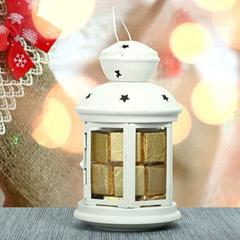 White Lantern N Chocolates For Valentine