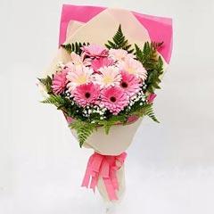 Beautiful Pink Gerbera Bouquet