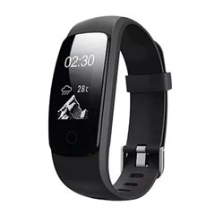 Black Fitness Tracker With OLED Screen