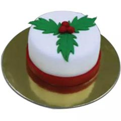 Christmas Leaf Mono Cake