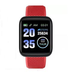 Red N Black Activity Tracker Watch