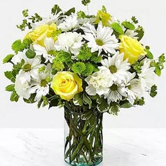 Vase Of Happy Flowers
