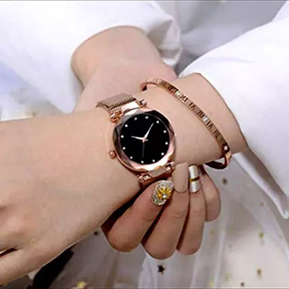 Shimmery Colour Changing Golden Watch