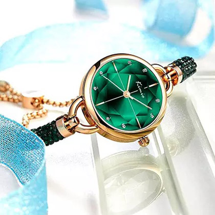 KIMIO Shining Green Watch