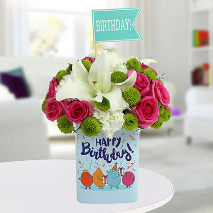 Lively Birthday Flower Arrangement
