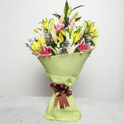 Vibrant Bouquet of Lilies