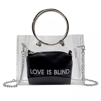 Love Is Blind Transparent Crossbody Bag