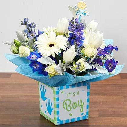 It''s A Boy Flower Vase