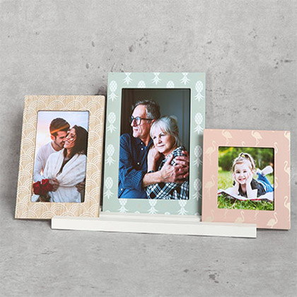 Set of 3 Pastel Coloured Frames