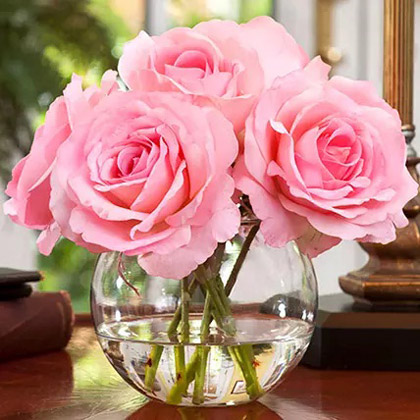 Real Touch Artificial Pink Roses