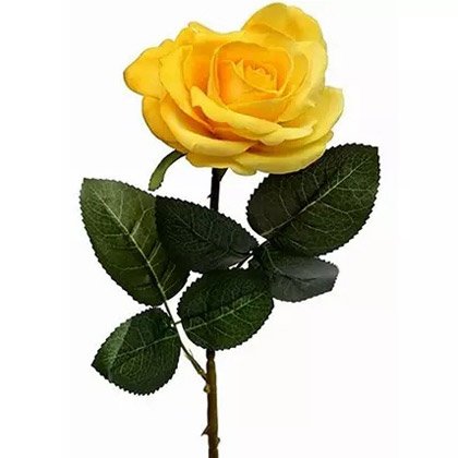 6 Artificial Yellow Roses