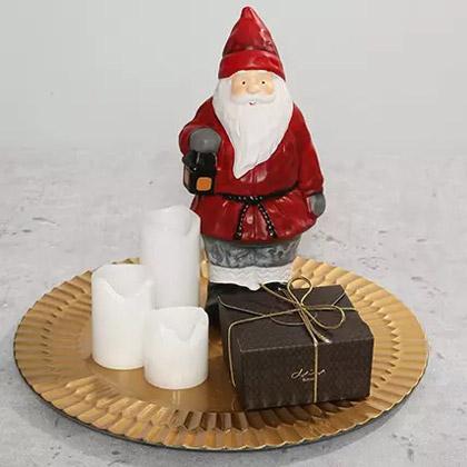 Santa Idol and Stuffed Dates Platter