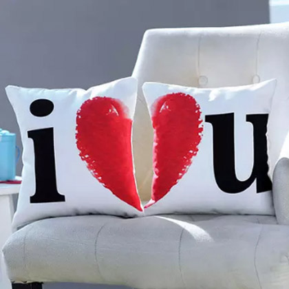 I Love You Printed Cushion Set