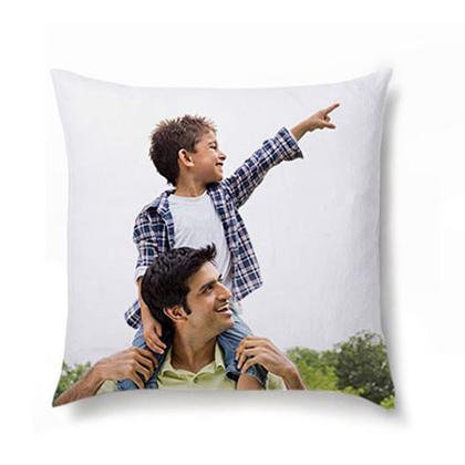 White Personalized Photo Cushion