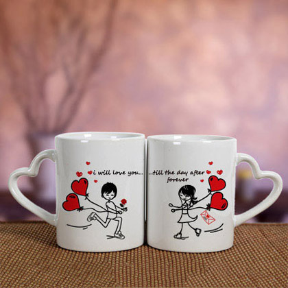 White Love Mugs