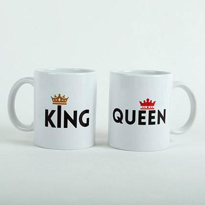 King N Queen Couple Mugs