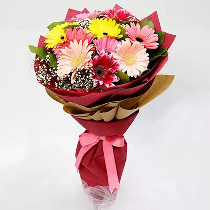 10 Gerbera Flowers Bouquet