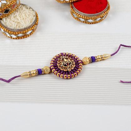 Embellished Purple Rakhi