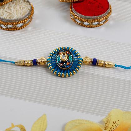 Embellished Blue Rakhi