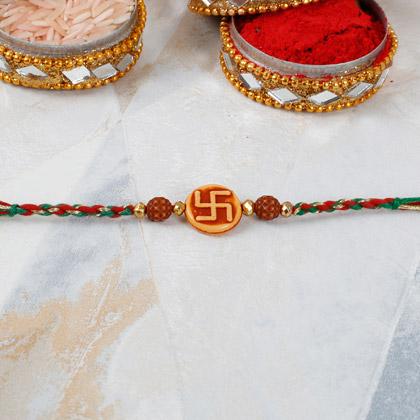 Rudraksha And Swastika Rakhi