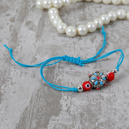 Classic Red And Blue Designer Rakhi