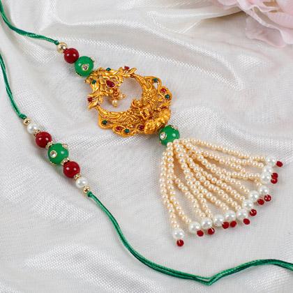 Traditional Lakshmi Lumba Rakhi Set