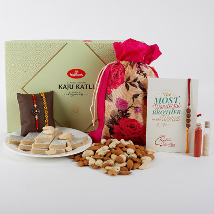 Rakhi Sweet And Dry Fruits Combo