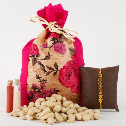 Cashew Nuts And Rakhi Combo