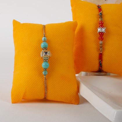 Red And Blue Rakhis