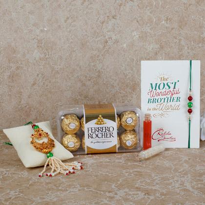 Ferrero Rocher Special Lumba Rakhi Set