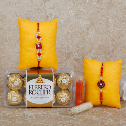 Rocher Special Rakhi Combo