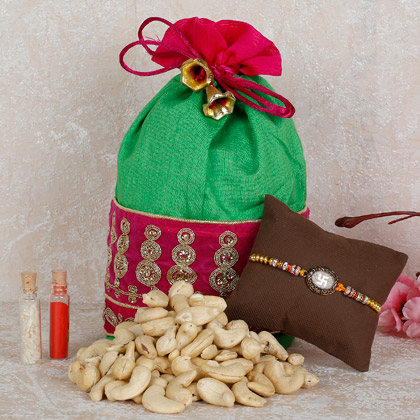 Rakhi With Cashew Nuts