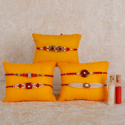 Set Of 5 Designer Rakhis