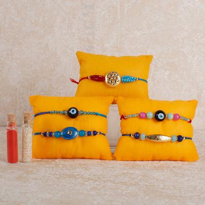 Set Of 5 Alluring Rakhis