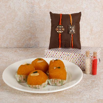 Ravishing Rakhi And Sweets Combo